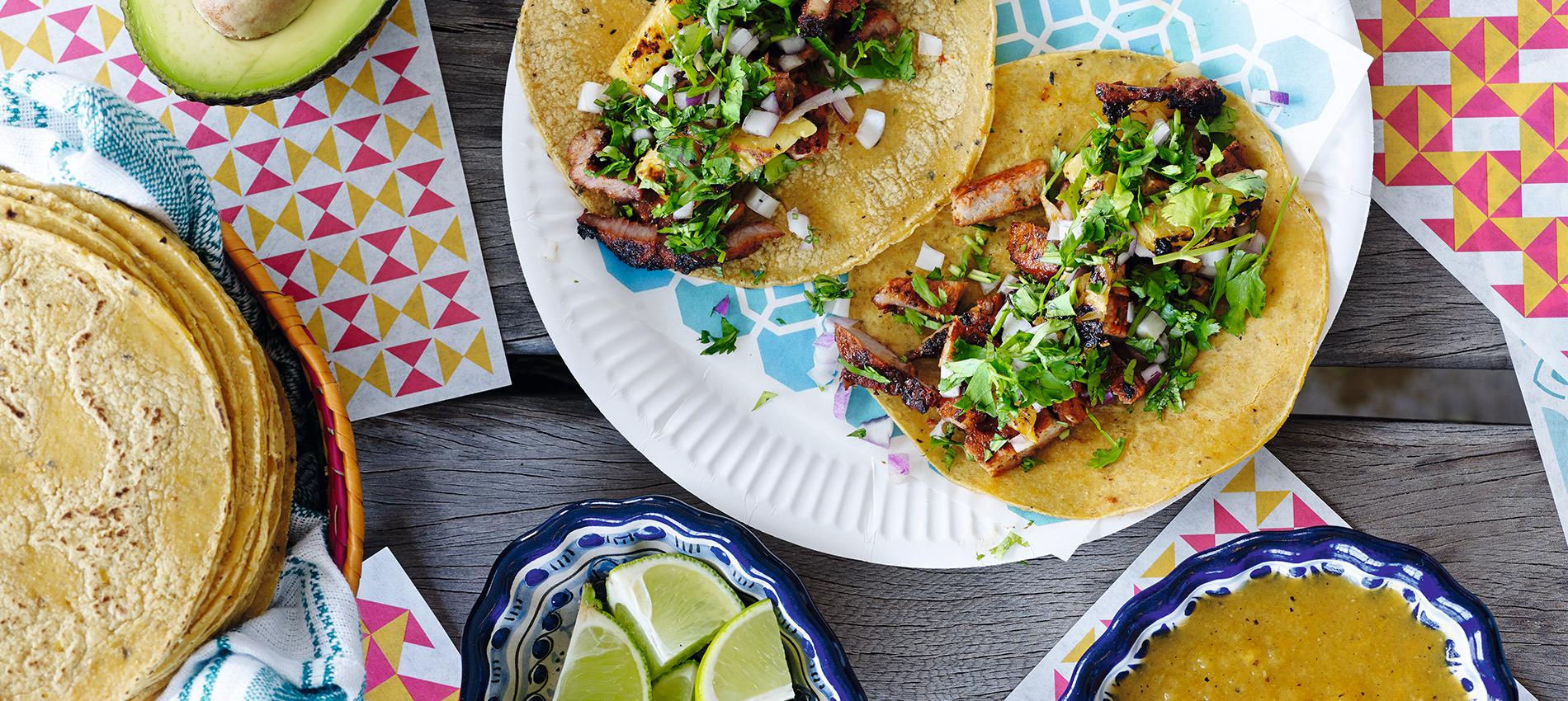 tilbehør til mexicansk mad